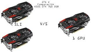 GTA V comparación, ASUS GTX 760 SLI, 1 GPU GTX 760 1080p