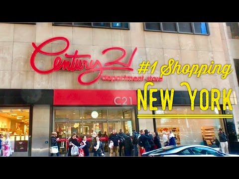 New York Best Shopping:  Century 21 Department Store Tour And Overview Designer Brands Discount