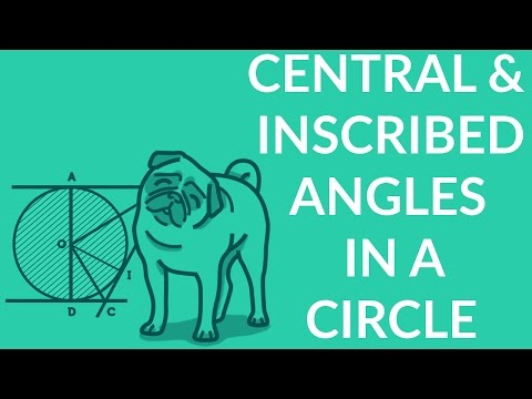 How to determine angles in a circle with central and inscribed angles relations