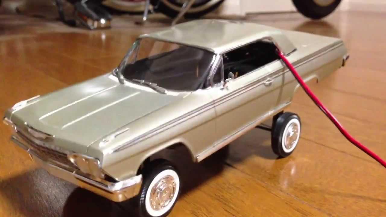 Toy Model Cars : Impala handmade hopper / model car lowrider youtube