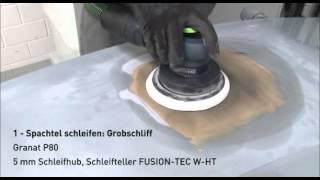 Schleifen in 4 Schritten mit Festool LEX 3