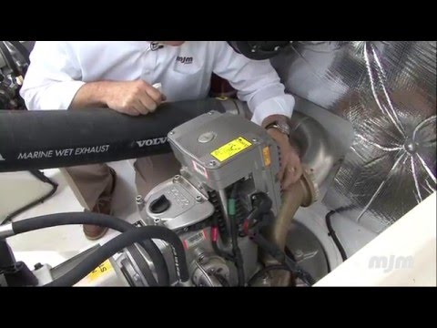 Daily Engine Check on an MJM Yachts 40z