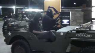 Gorilla Drives WWII Jeep to Taco Bell