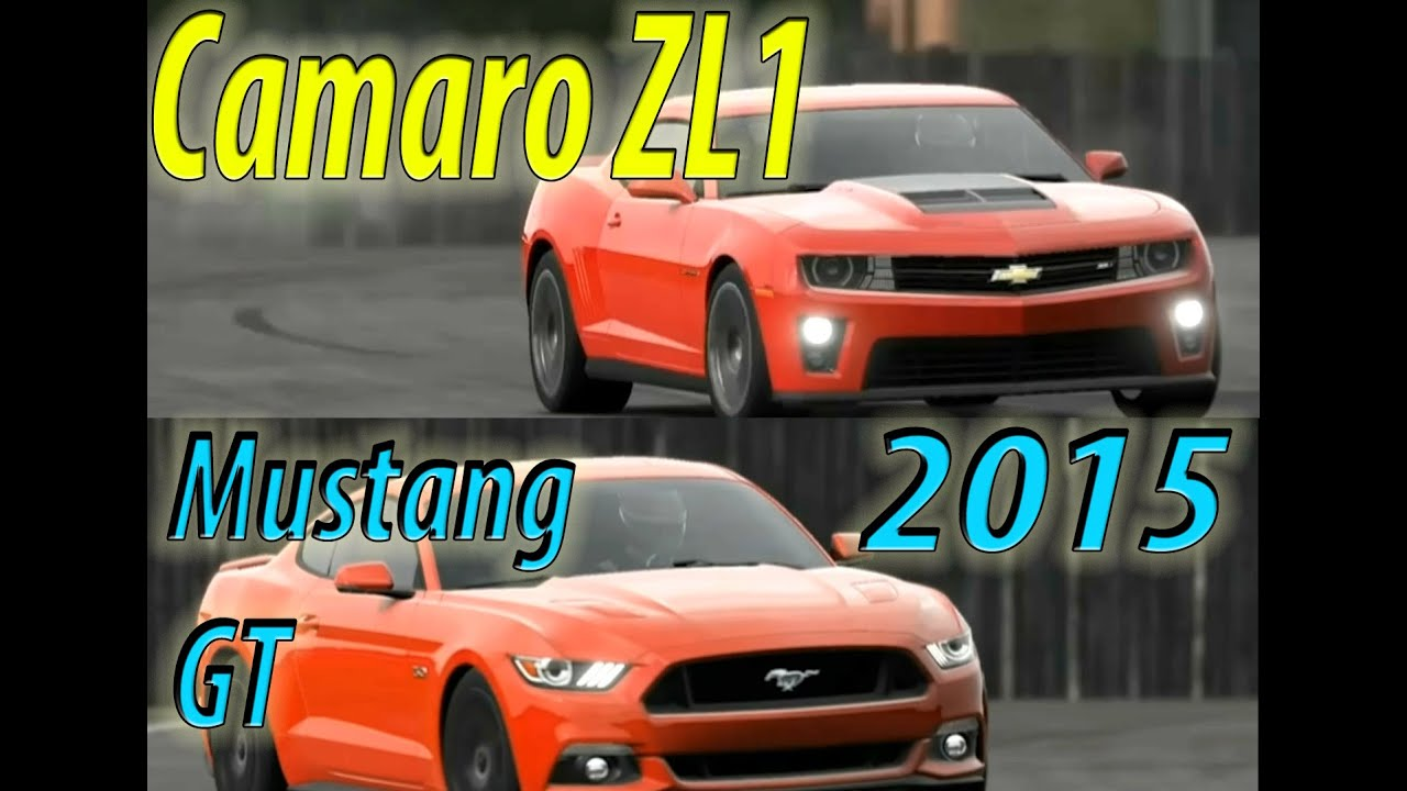 Top Gear 2015 Ford Mustang Gt Vs Chevy Camaro Zl1 Youtube