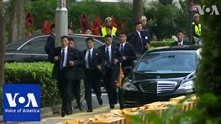 Kim Jong Un departs for meeting with Singapore PM