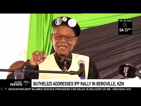 Mangosuthu Buthelezi addresses IFP rally in KwaZulu Natal