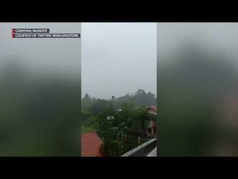 Typhoon Jolina: Strong Wind, Rain In Cawayan, Masbate