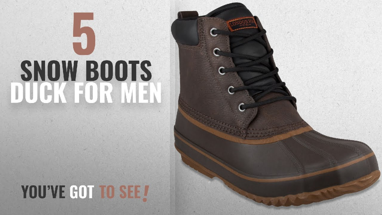 c008e0f3ee8 Top 10 Snow Boots Duck [ Winter 2018 ]: LONDON FOG Mens Ashford Waterproof  and Insulated Duck Boot