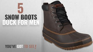 Top 10 Snow Boots Duck [ Winter 2018 ]: LONDON FOG Mens Ashford Waterproof and Insulated Duck Boot