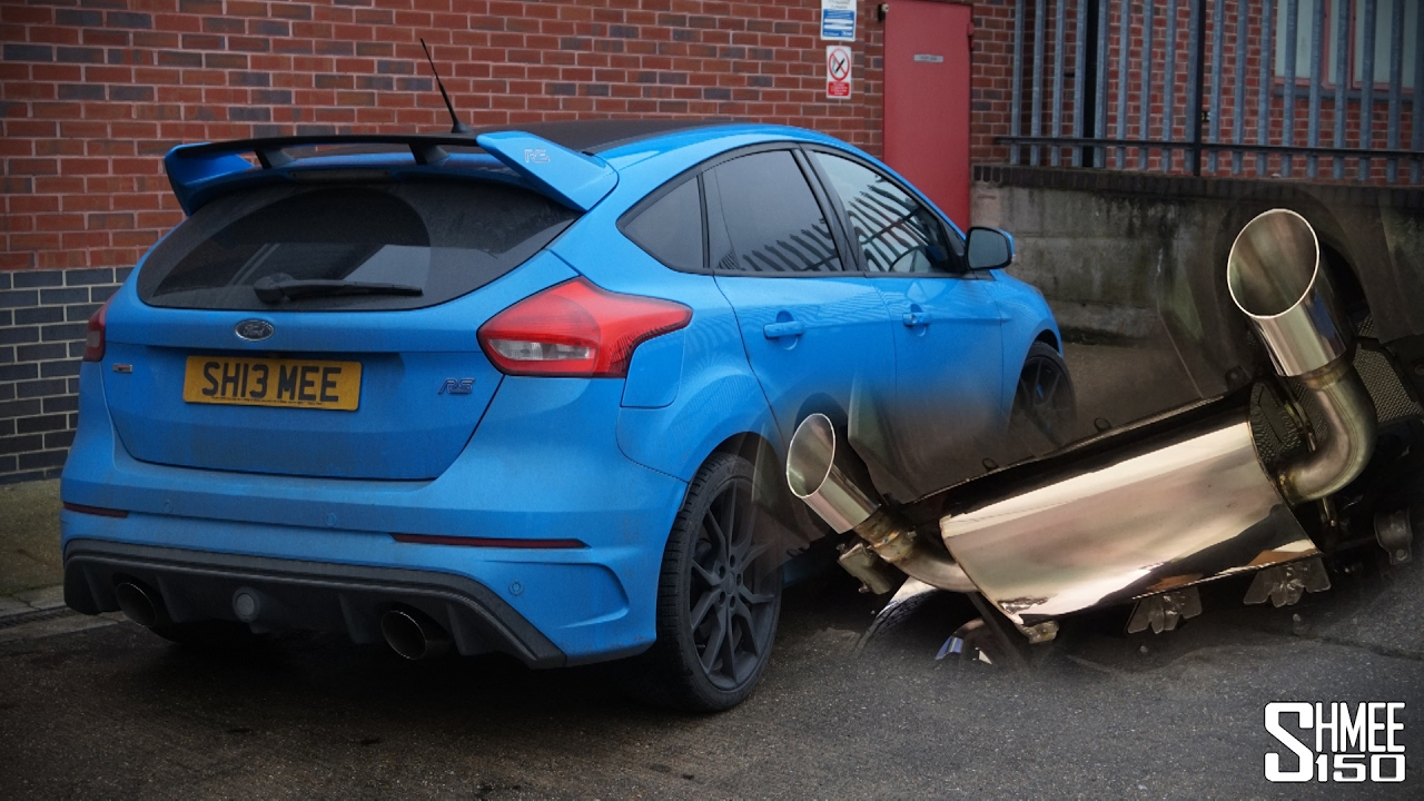 my focus rs now has a mountune exhaust system