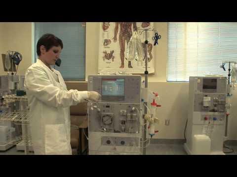 hemodialysis machine setup