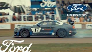JP und sein Ford Mustang - beim Festival of Speed