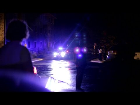 Police Car Lights Night
