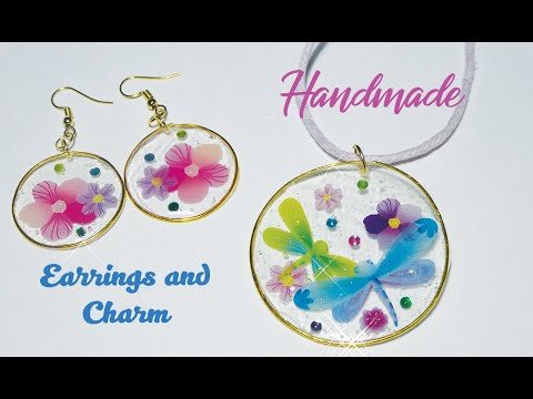 How to make Earrings and Pendant from Modeling Wire and Epoxy Resin