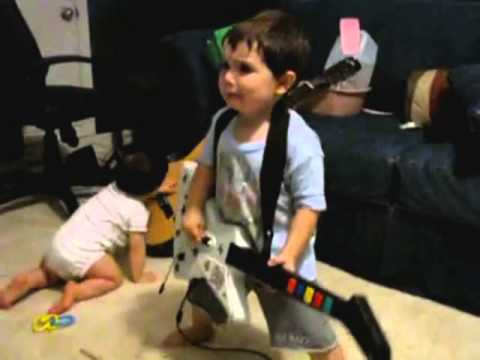 2-Year-Old Boy Performs One Of The Greatest Guitar Solos Ever