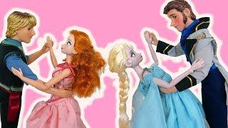 Disney Reine Elsa Princesse Anna Salle de bal Soirée dansante La routine du soir