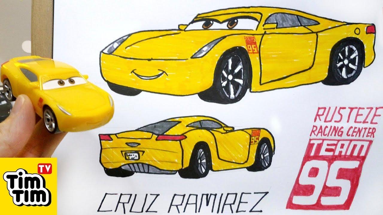 How To Draw Cars 3 Cruz Ramirez With Basic Structure Easy Step