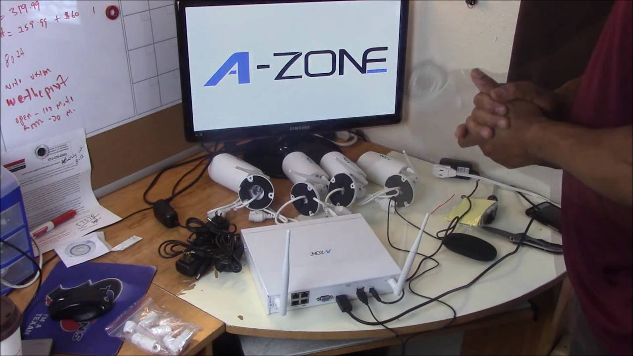 WIRELESS CCTV SECURITY CAMERA FROM A- ZONE - YouTube