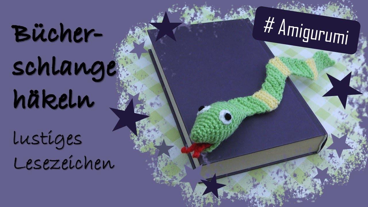 Wolligesbewildert Amigurumi Häkeln Projekt Bücherschlange