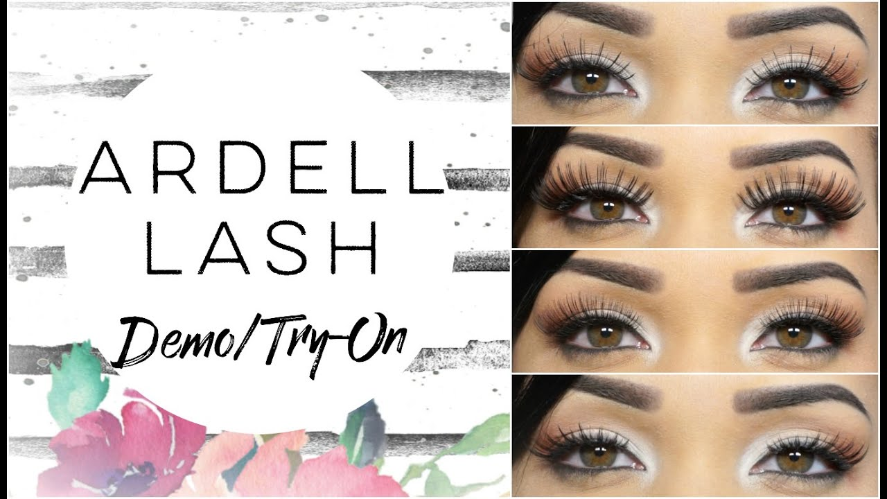3cc0dbb7686 20 Pairs.) Ardell Lash Try-On/Demo feat. EyelashesUnlimited.com ...