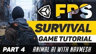 Erstellen von einem Survival-Spiel in der Einheit 2018 | Teil 4 - Roaming AI (Navmesh)