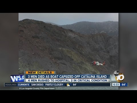 3 men died as boat capsized off Catalina Island