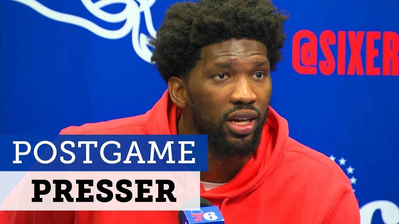 Download Full Joel Embiid Press Conference after fight with Karl-Anthony Towns | NBC Sports Philadelphia