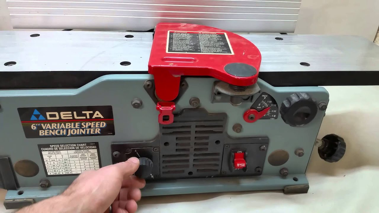 Deltona 6 variable speed bench jointer...ebay - YouTube