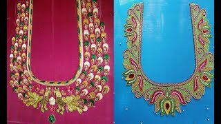 Beautiful Thread Embroidery Work Blouse Designs For Pattu Saree