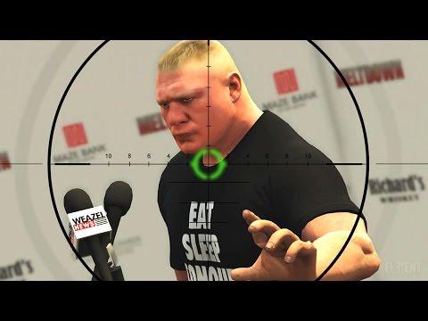 GTA 5 WWE Mods - BROCK LESNARS HEROIC ESCAPE! (Grand Theft Auto V Mods) thumbnail