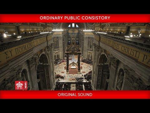 Pope Francis – Ordinary Public Consistory  2018-06-28