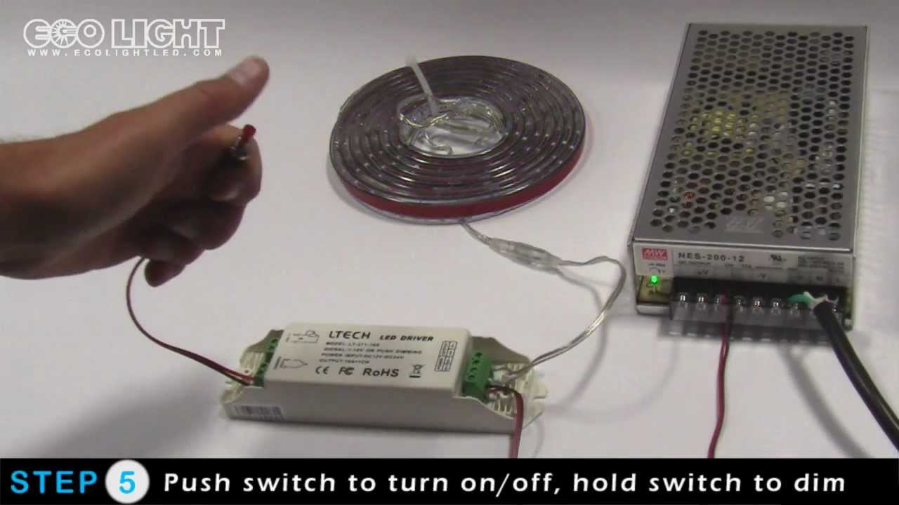 Dimming Led Lights Using A Momentary Push Style Switch