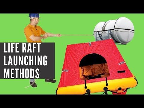Hydrostatic Release Unit (HRU), Manual And Davit Launching- LIFE RAFT LAUNCHING PROCEDURE VIDEO