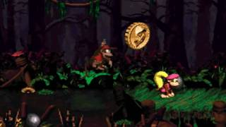 Donkey Kong Country 2 102% Walkthrough : Krazy Kremland - Mudhole Marsh