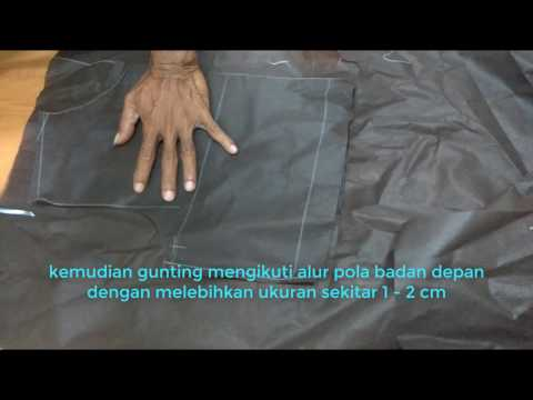 Cara Membuat Pola Dan Menjahit Model Baju Gamis Terbaru Bagian 1