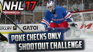 Can I Win a Shootout Using Only Poke Checks? (NHL 17 Challenge)