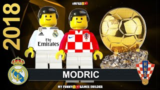 Luka Modric Wins Ballon D'or 2018 • Top 10 players by France Football in Lego