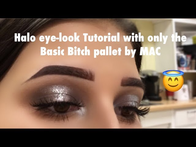Smokey Black&Silver Halo Tutorial with the Basic Bitch Pallet by MAC