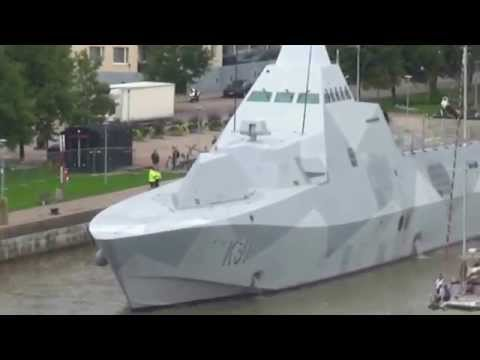 Visby class corvette VISBY To withdraw into the river Aura