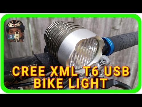 $10 BIKE LIGHT! CREE XML T6 USB LED Headlight - GEAR REVIEW | ADVENTURE BIKER