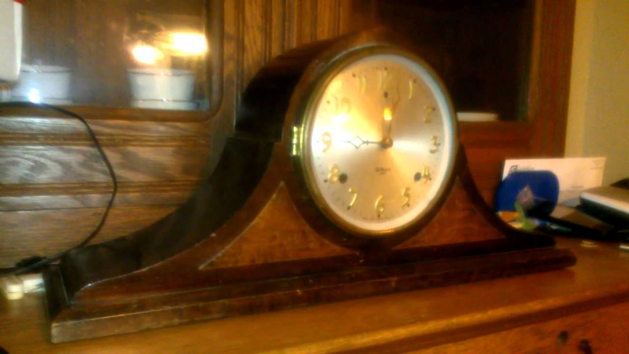 Gilbert 1807 Mantle Clock 9pm Chimes Youtube
