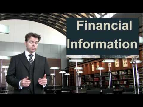 Lesson Eight - What is Financial Information? - Financial Aid with Professor Birdthistle