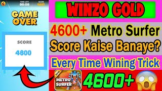 Winzo Gold Mod Apk   Metro Surfers High Score 4600