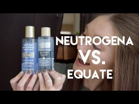 Neutrogena Vs Equate  Eye Makeup Remover