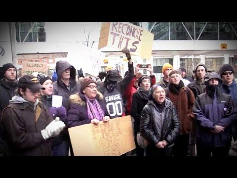 Anti-pipeline Protesters Clash With Pro-oil Albertans In Calgary