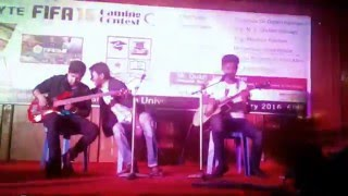 mon majhi khobor dar,acustic cover by jabir