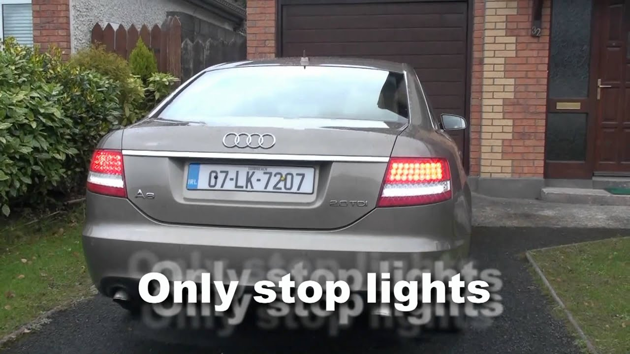My Audi A6 Rear Led Lights Youtube