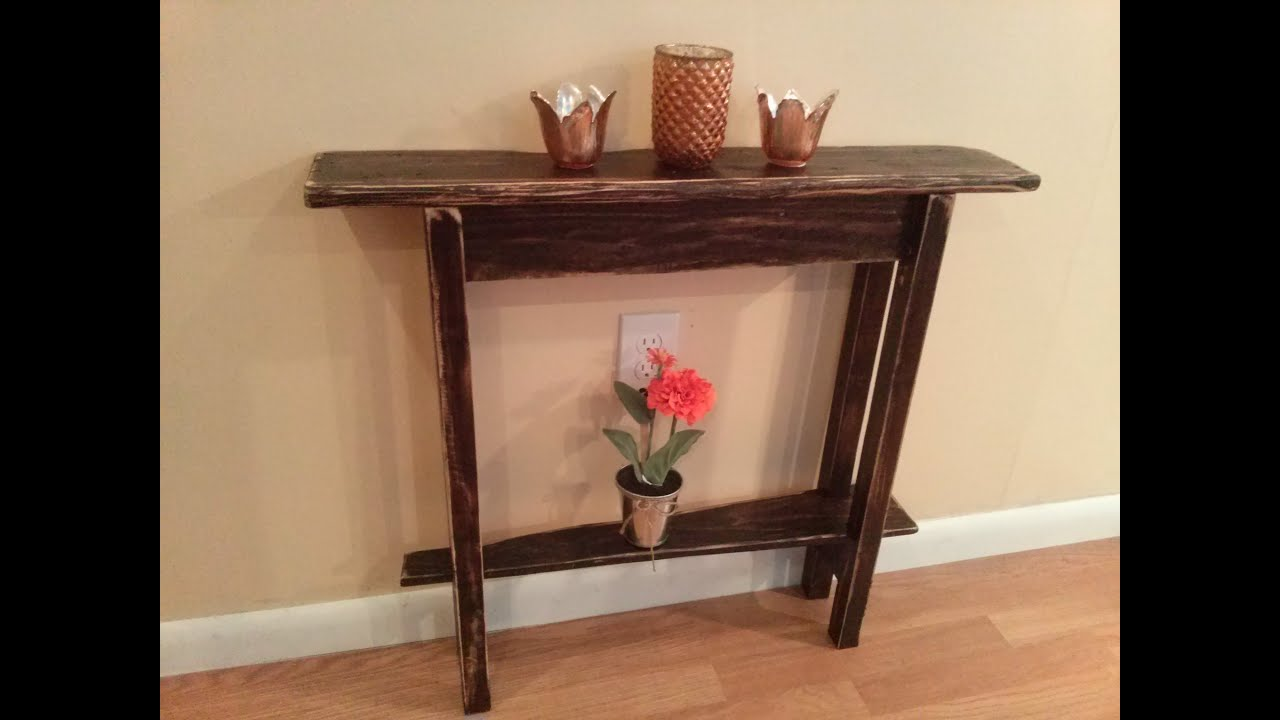 woodworking rustic accent table maker video