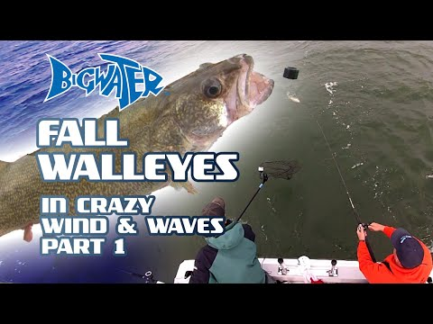 Fall Fishing For Lake Erie Walleye In 40MPH Winds Off Huron, Ohio - Part 1