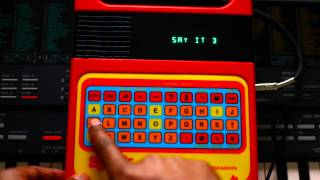 Home Studio Stuff - Speak & Spell electronic toy Vocal samples Pack preview and Free Giveaway